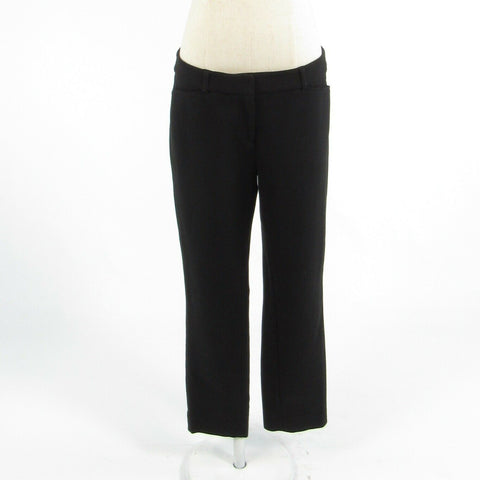 Black WHITE HOUSE BLACK MARKET stretch skinny cropped capri pants 4