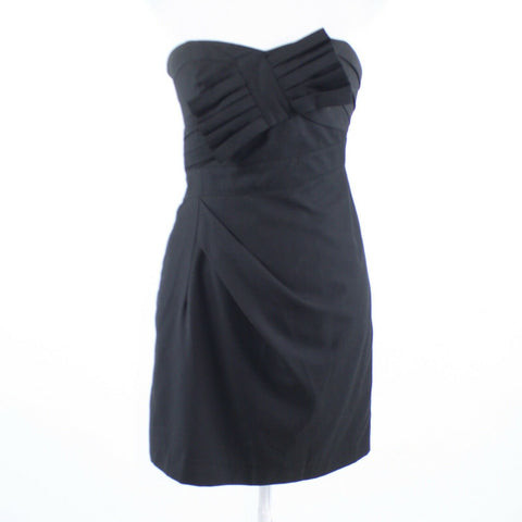 Black MISS ME MM Couture strapless sheath dress S-Newish