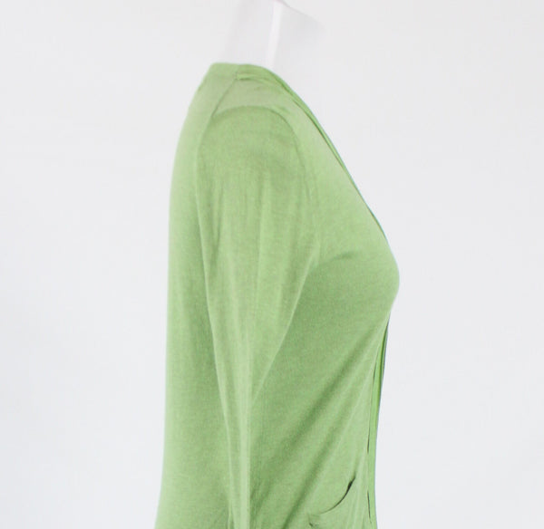 Green cotton BANANA REPUBLIC hook front cardigan sweater PM-Newish