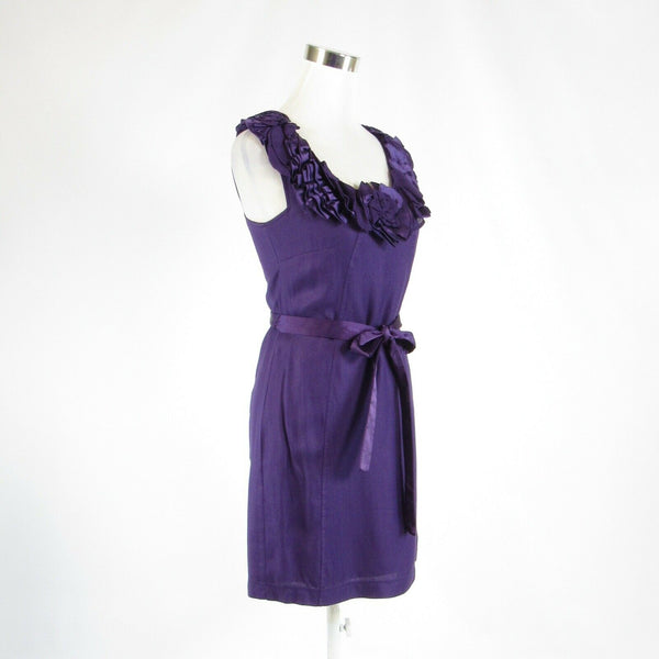 Purple YOANA BARASCHI sleeveless A-line dress 0-Newish