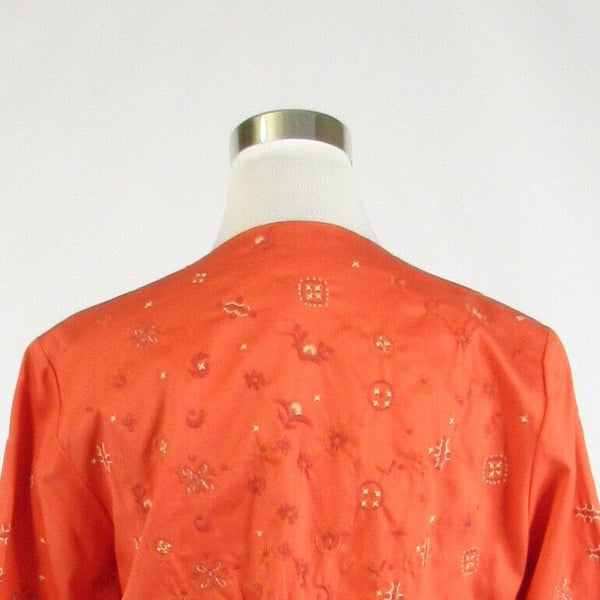 Orange cotton blend COLDWATER CREEK 3/4 kimono sleeve jacket 12-Newish