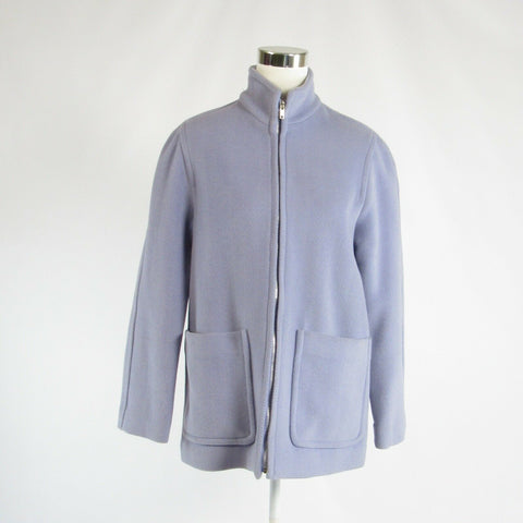 Lavender purple herringbone wool blend MICHAEL KORS long sleeve jacket 4-Newish