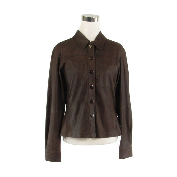 Brown 100% leather D. TERRELL LTD. vintage jacket M-Newish