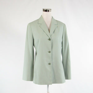 Light sage green 100% cotton LAFAYETTE 148 long sleeve blazer jacket 8