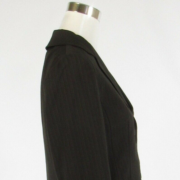 Dark brown pinstripe ANN TAYLOR long sleeve jacket 4-Newish