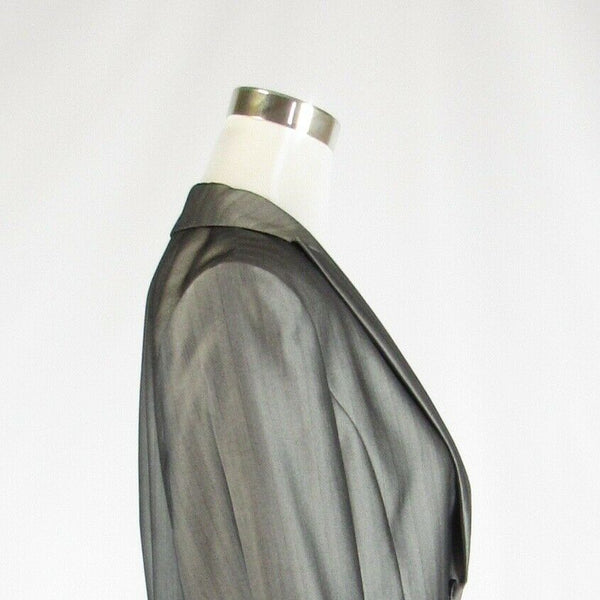Metallic silver CALVIN KLEIN long sleeve jacket 12-Newish