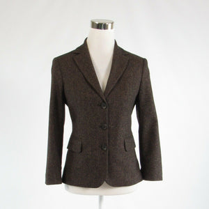 Dark brown gray UNITED COLORS OF BENETTON 3/4 sleeve blazer jacket IT40 6
