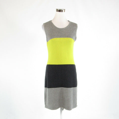 Gray green color block CALVIN KLEIN stretch sleeveless sweater dress M-Newish