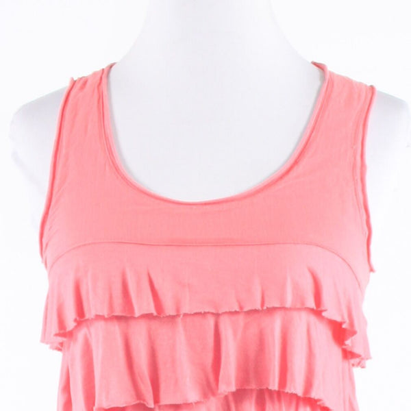 Salmon pink stretch BANANA REPUBLIC sleeveless knit blouse XS
