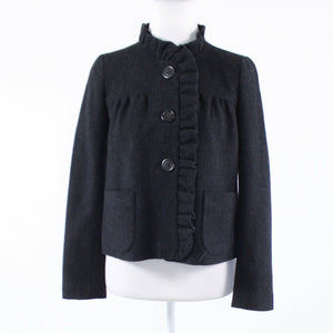 Black 100% wool J. CREW long sleeve jacket 0