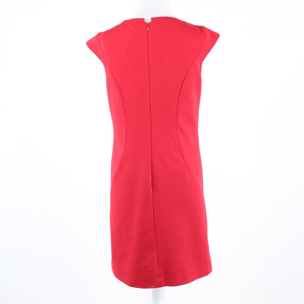 Red stretch KENNETH COLE NEW YORK cap sleeve empire waist dress 6