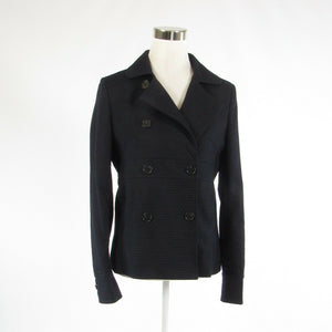 Black textured 100% cotton J. CREW double breasted long sleeve jacket 6-Newish