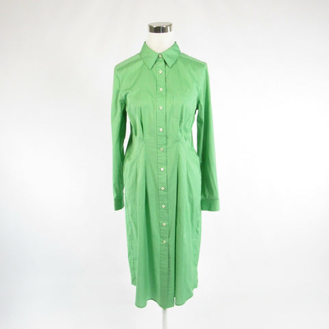Light green cotton PELLE and CO long sleeve sheath dress 8