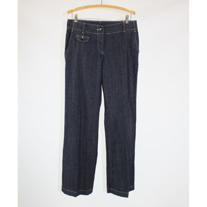 Dark rinse stretch cotton blend TALBOTS flare jeans 6 NWOT