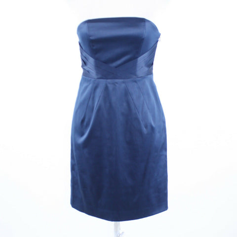 Dark blue BANANA REPUBLIC strapless sheath dress 2P-Newish