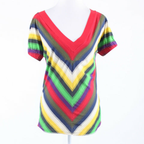 Multicolor diagonal striped 100% cotton MARC JACOBS short sleeve blouse S-Newish