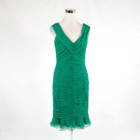 Green 100% silk TADASHI COLLECTION sleeveless sheath dress 8 NWT $340.00