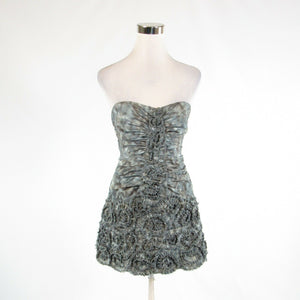 Gray brown ikat BCBG MAX AZRIA bodycon dress 0-Newish
