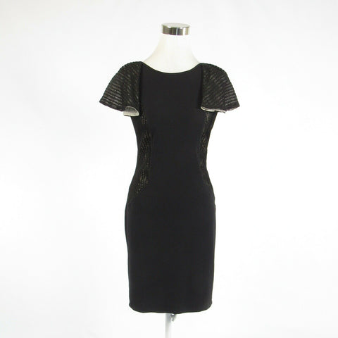 Black SONIA FORTUNA Firenze stretch cap sleeve sheath dress S-Newish
