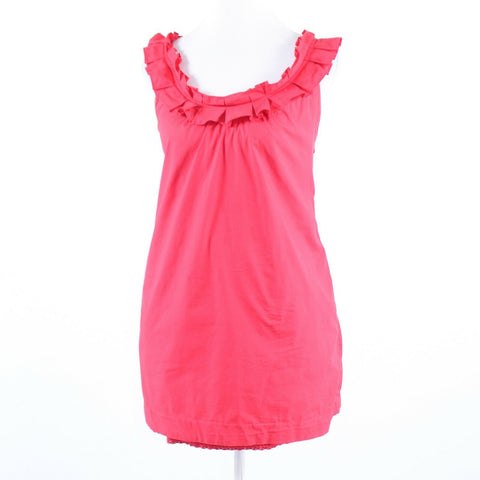 Pink red cotton blend ANTHROPOLOGIE FEI sleeveless sheath dress 0-Newish
