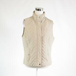 Light beige diamond quilted NINE WEST sleeveless vest M