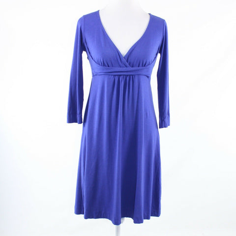Blue RIC RAC stretch 3/4 sleeve A-line dress M