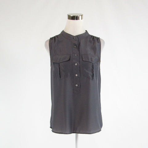 Gray J. CREW button chest sleeveless blouse 6