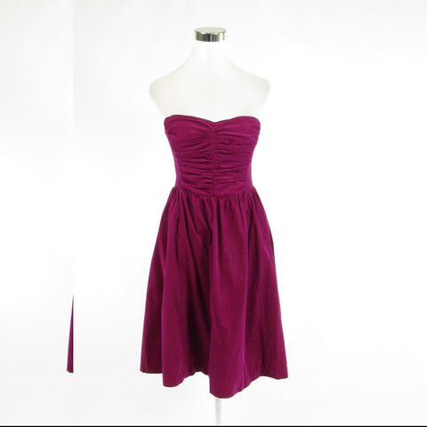 Fuchsia pink velvet HD IN PARIS strapless A-line dress 8 40