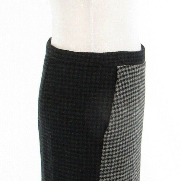 Black gray houndstooth wool blend J. CREW The Pencil Skirt pencil skirt 2