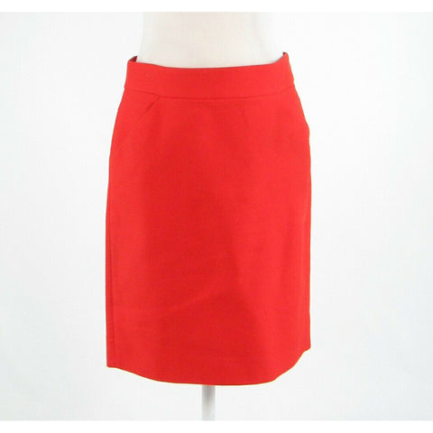 Dark orange 100% cotton J. CREW The Pencil Skirt pencil skirt 4-Newish
