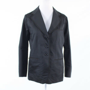 Black 100% cotton SONIA RYKIEL long sleeve blazer jacket FR42 12
