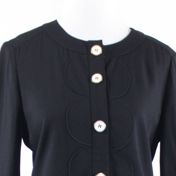 Black MARC JACOBS Marc long sleeve button front jacket 10-Newish