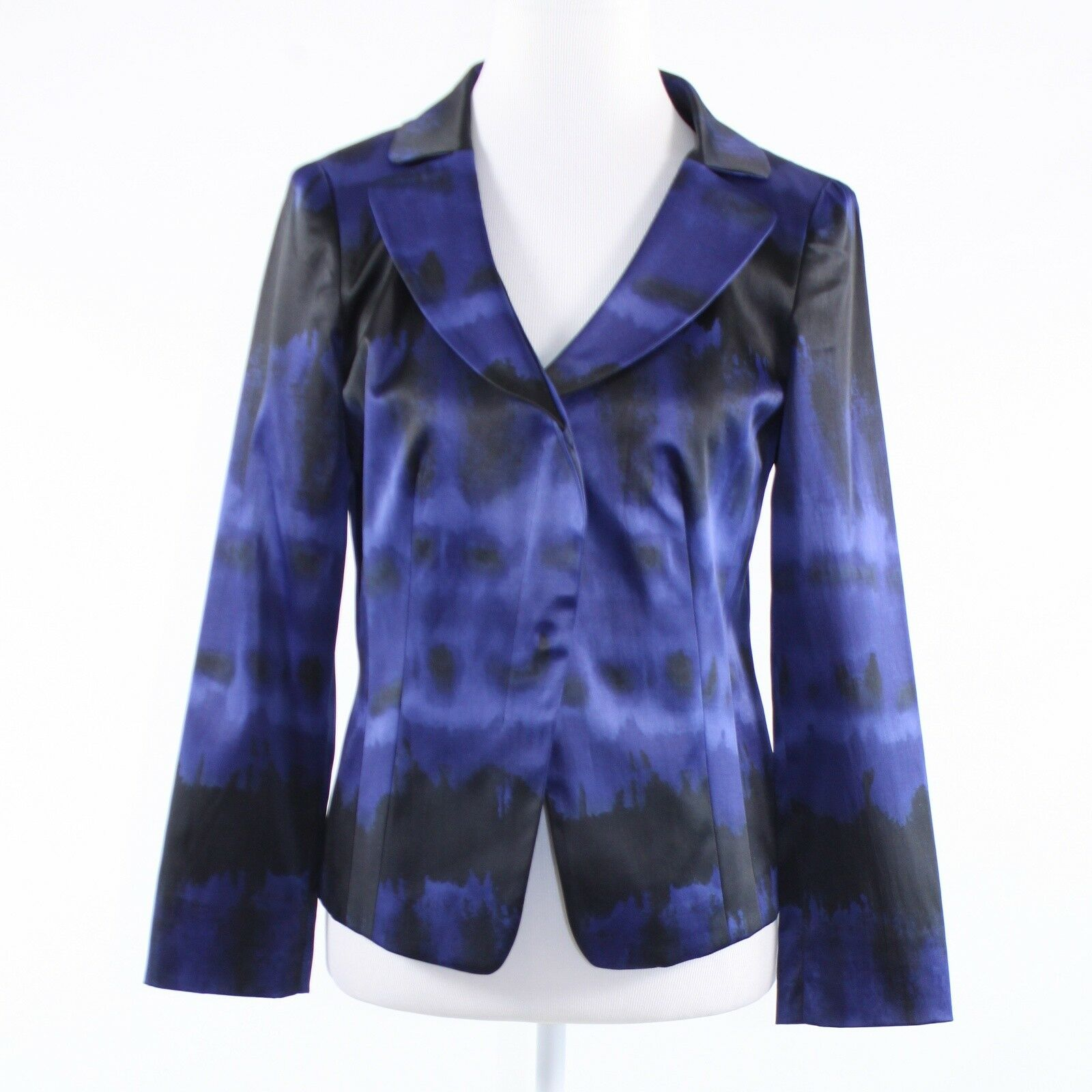 Black purple abstract cotton blend KENNETH COLE NEW YORK long sleeve jacket 6-Newish