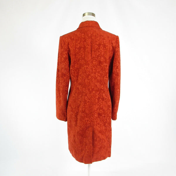 Dark orange floral print PARISIAN long sleeve coat 10-Newish
