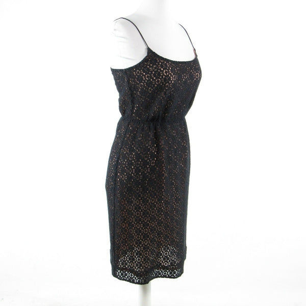 Black lace J. CREW spaghetti strap sheath dress 0-Newish
