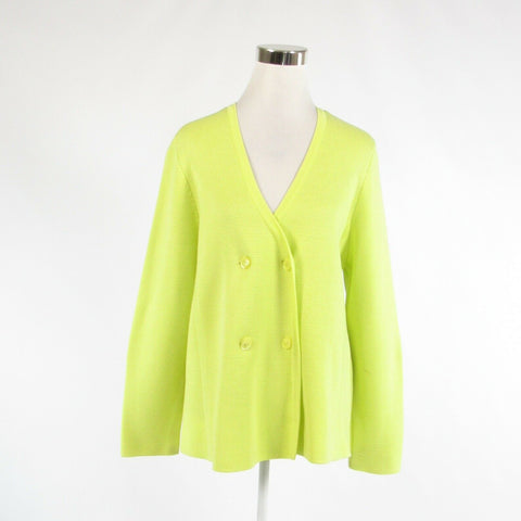 Bright green 100% cotton DONCASTER long sleeve cardigan sweater XL-Newish