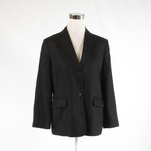 Black TALBOTS long sleeve blazer jacket 10P-Newish