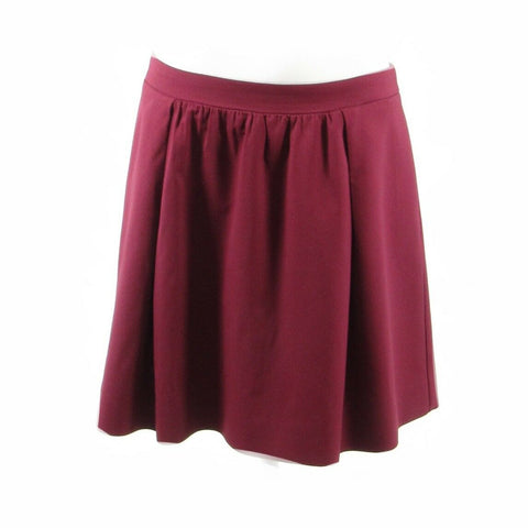 Maroon red J. CREW full skirt 8