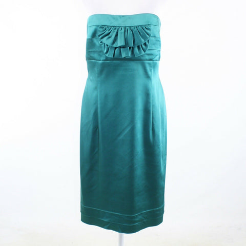 Teal green ARTHUR S. LEVINE Tahari strapless sheath dress 16-Newish