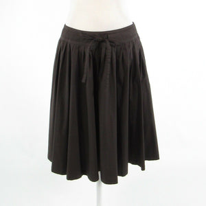 Dark brown cotton blend MAXMARA Weekend pleated skirt 8