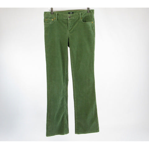 Green corduroy J. CREW Martin Fit stretch bootcut pants 0