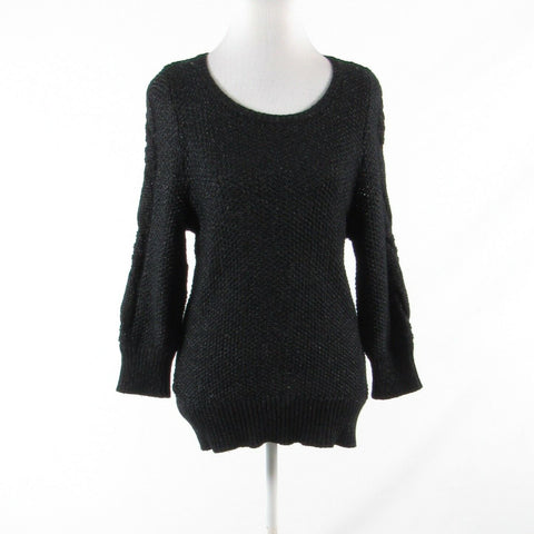 Charcoal gray wool blend ANN TAYLOR long sleeve scoop neck sweater M