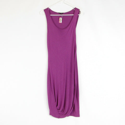 Purple SISLEY bodycon dress XS NWOT