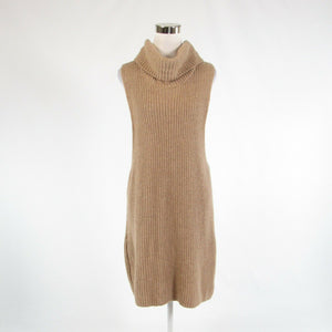 Beige FREE PEOPLE sleeveless vest sweater ribbed L