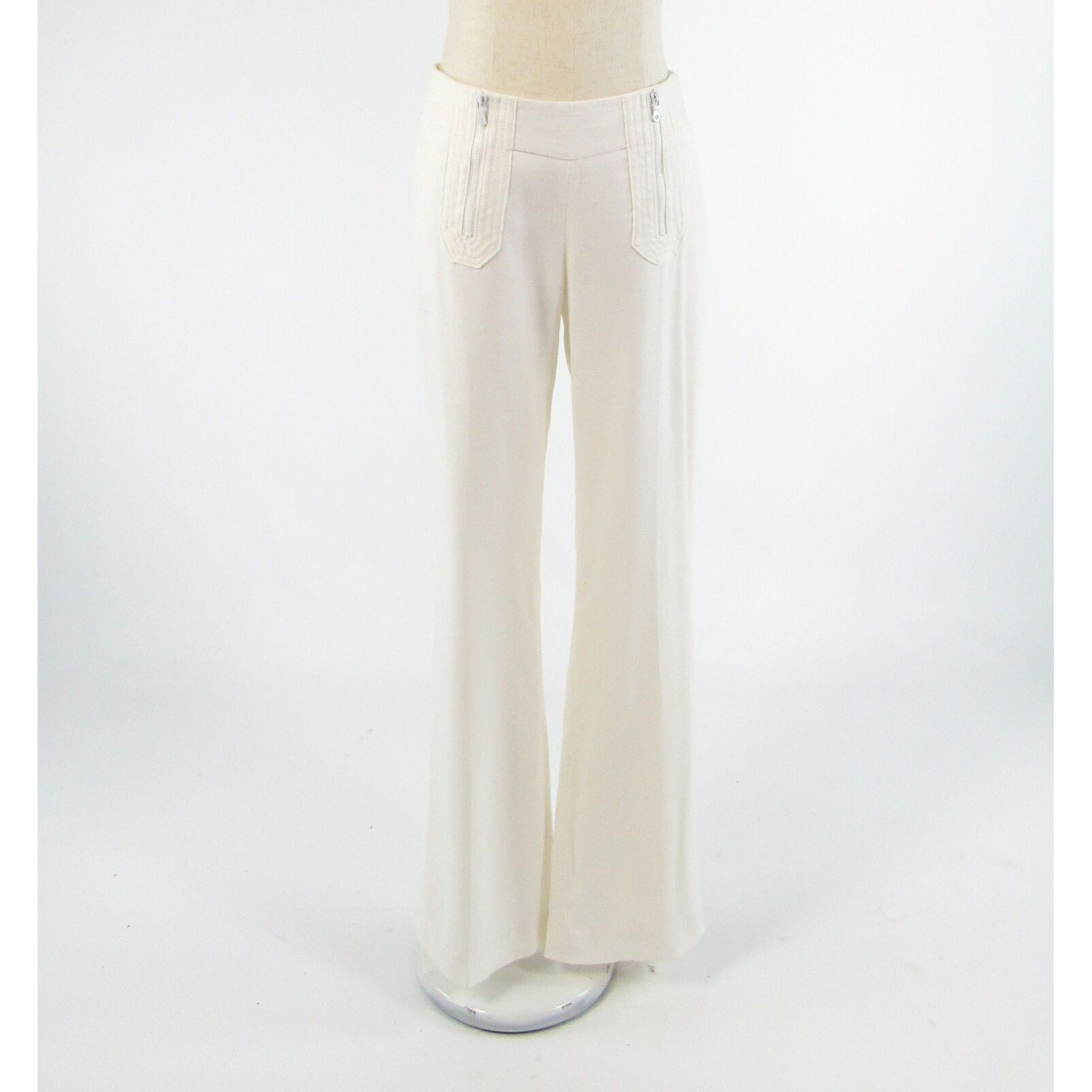 Ivory ETCETERA stretch straight leg linen pants 2