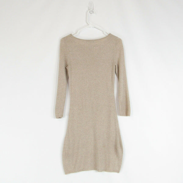 Light beige ALICE and OLIVIA sweater dress S