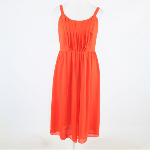 Orange ANN TAYLOR LOFT sleeveless A-line dress 4