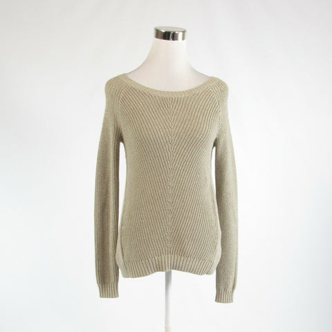 Taupe silver cotton blend BANANA REPUBLIC long sleeve crewneck sweater XS