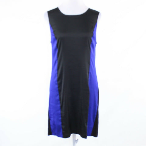 Black purple color block BCBG MAX AZRIA stretch sleeveless shift dress M