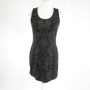 Charcoal gray cheetah cotton blend ATHLETA stretch sleeveless bodycon dress XS